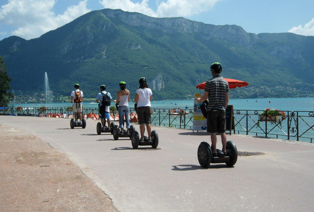 Balade bord du lac d'annecy gyropode