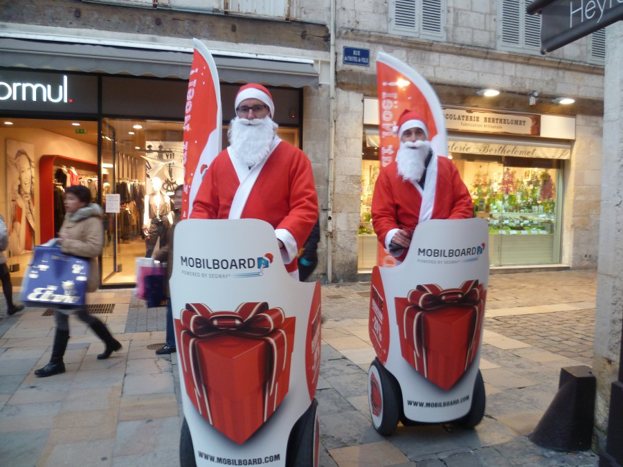 Action de street marketing agence de Segway Mobilboard