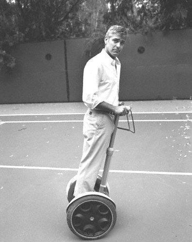 Georges Clooney acteur gyropode Segway