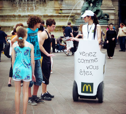 Opération street marketing Segway : Mc Donalds
