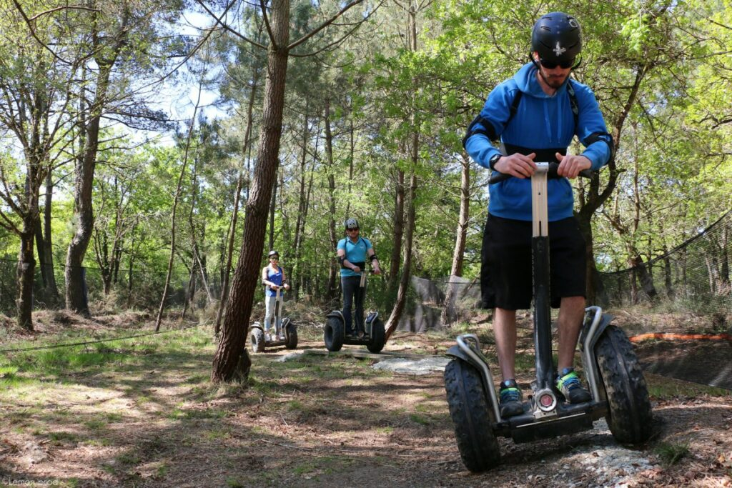 homme gyropode segway