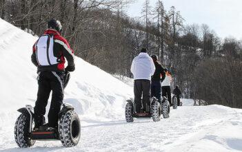 Randonnée sous la neige en Segway avec Mobilboard