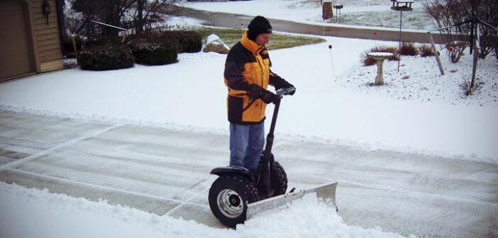 Segway chasse-neige