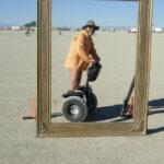 Insolite au Festival Burning Man en Segway