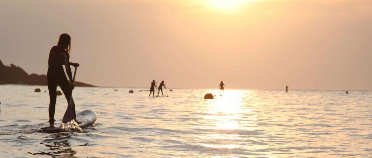 Paddle coucher de soleil