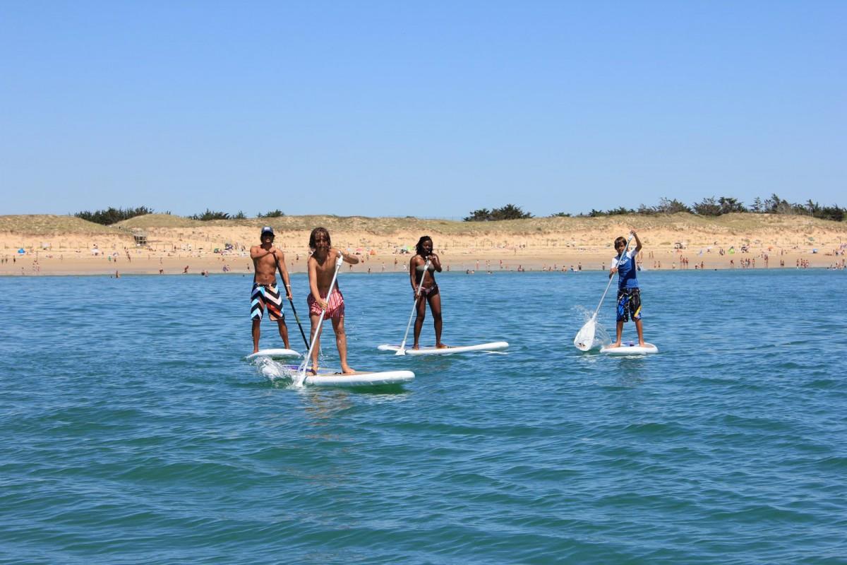 Paddle à la plage
