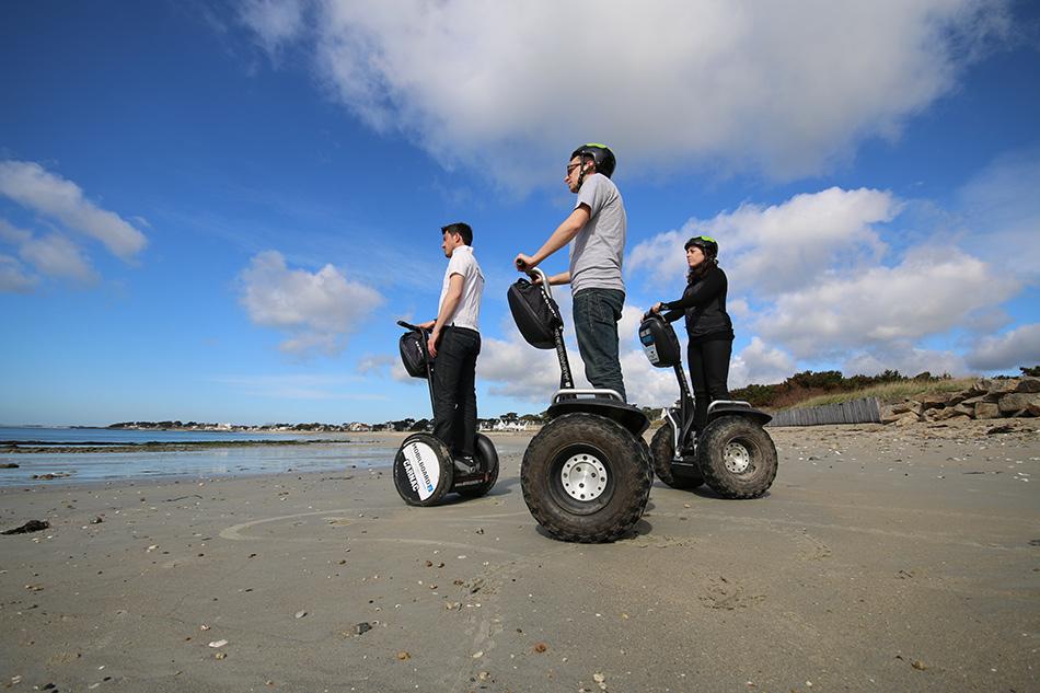 balade originale à Segway sur les plages du Morbihan