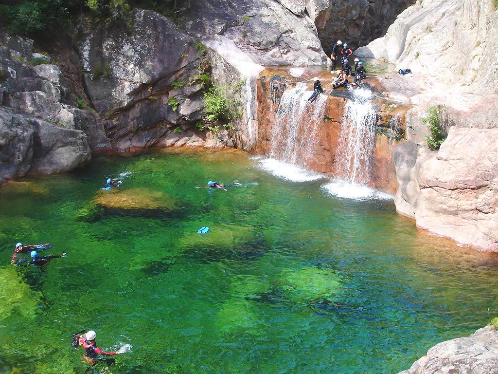 Canyoning Aiguille de Bavella en Corse