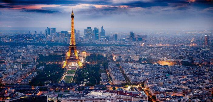 Panorama vue urbaine sur Paris France