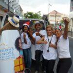 Opération street marketing action de solidarité Mobilboard La Réunion