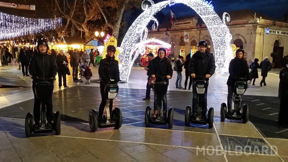 Balade à gyropode à Noël à Montpellier