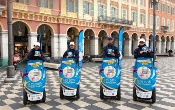 Opération de street marketing à Segway Nice
