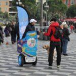 Opération de communication à Segway à Nice