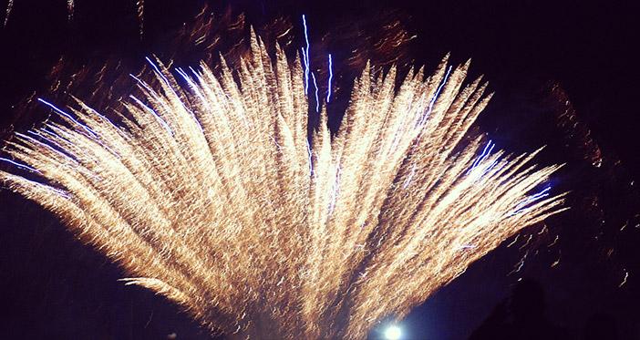 Fête et feux d'artifice du 14 juillet à Carnac