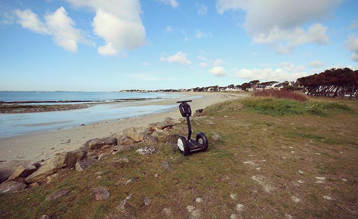 Balade le long des plages de Carnac en Segway Mobilboard