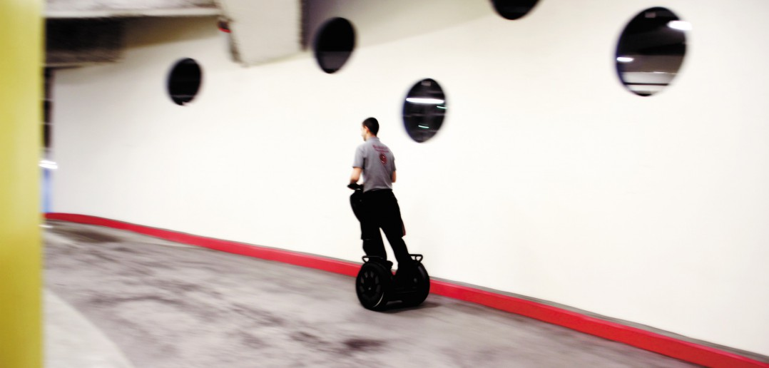 Sécurité segway parking