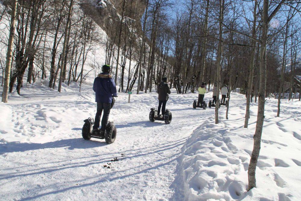 Randonner à Valloire en hiver à gyropode