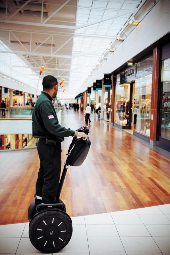 La sécurité des centres commerciaux à gyropode