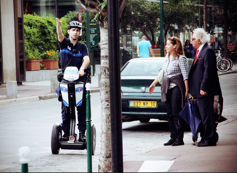 Police à gyropode Segway