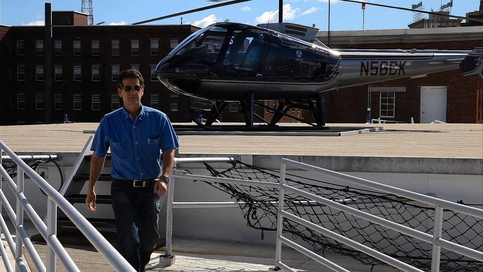 Dean Kamen inventeur de génie en hélicoptère