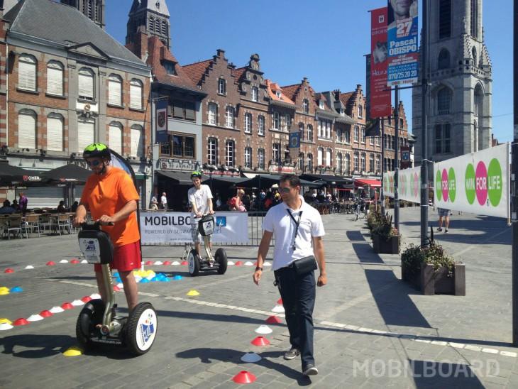 Activité découverte du gyropode Segway avec Mobilboard Belgique