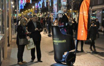 street marketing Casino Partouche à gyropode