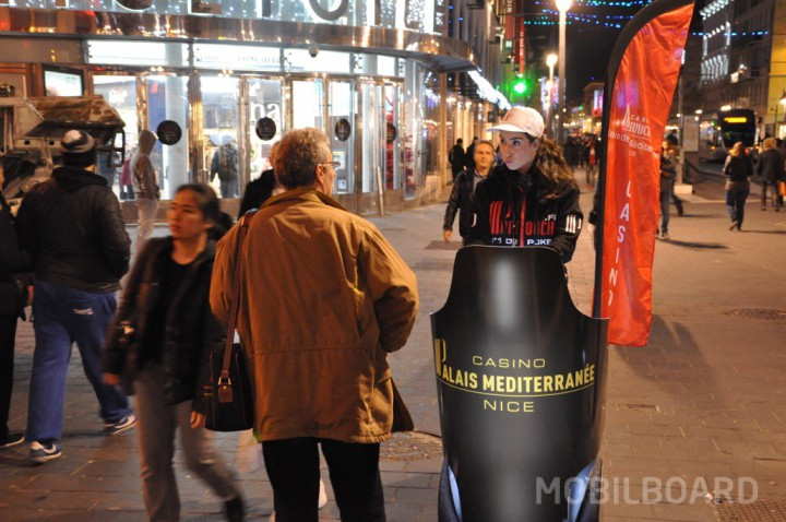 Opération nocturne Casino Partouche avec Mobilboard