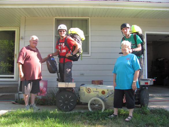 Aventuriers à gyropode Segway Travellers en famille