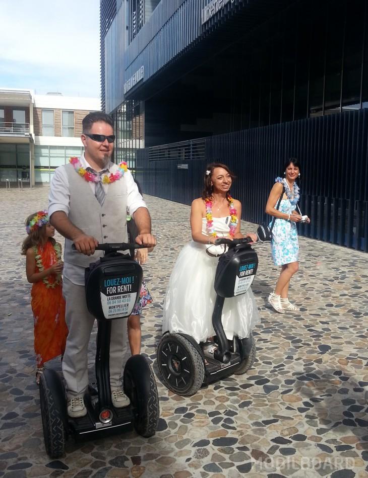 Mariage en Mairie à gyropode Segway