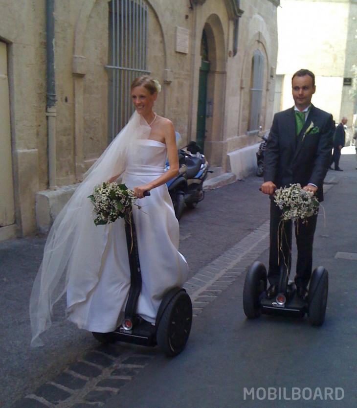 Les mariés en gyropode Segway