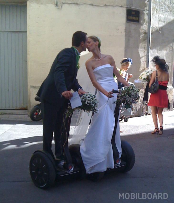 bisous mariage gyropode Segway