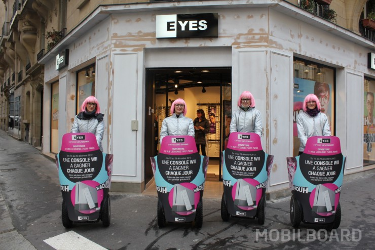 distribution efficace de flyers à gyropode Segway