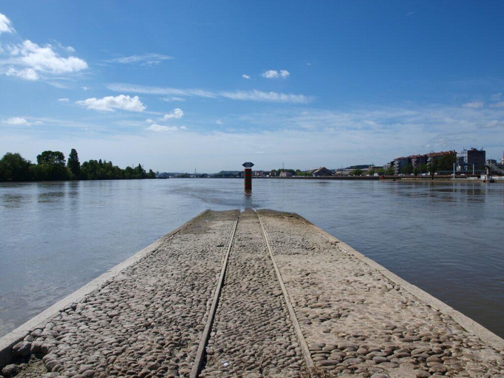 Bout de la confluence à Lyon