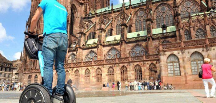 Place du chateau cathédrale Segway Strasbourg