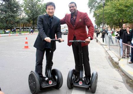 Jackie Chan et chris Tucker sur leur gyropode Segway