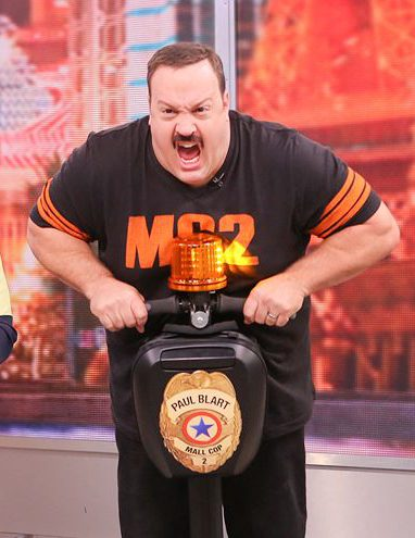 Kevin James du film Paul Blart à gyropode Segway