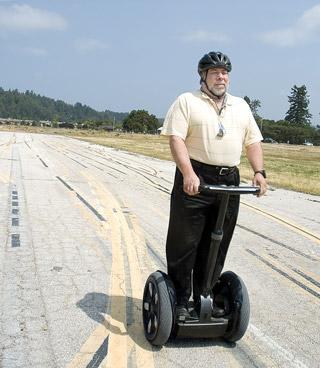 Steve Wozniak à segway