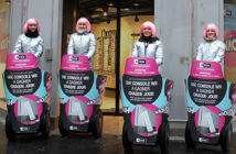 Street-marketing avec Mobilboard à gyropode Segway