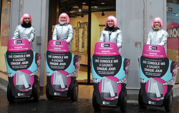 Street-marketing avec Mobilboard à gyropode Segway