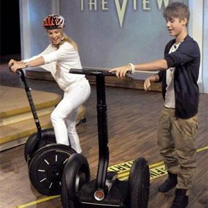 Justin Bieber à gyropode
