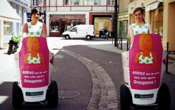 Opération street-marketing Groupama et Mobilboard à Segway