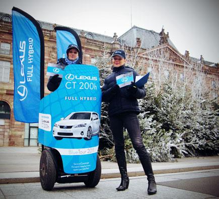 Opération street marketing Segway : Lexus