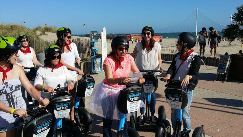Mobilboard La Grande Motte Montpellier sortie entre filles