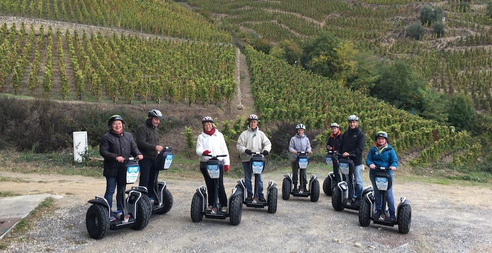 Segway tour spots Auvergne-Rhone-Alpes ballade vignes