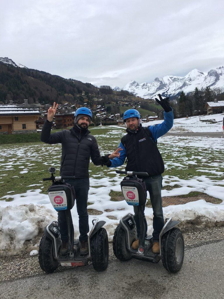 Balade et bonne humeur sur la neige en segway à Annecy