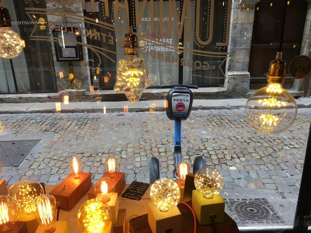 visite gourmande luminarium lyon : gyropode