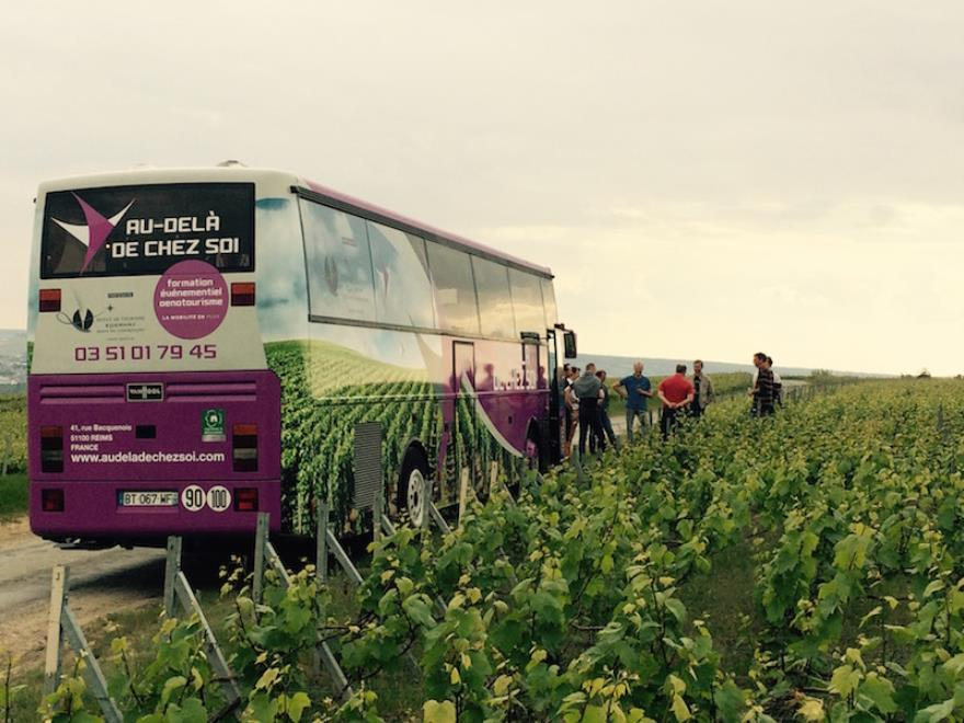Activite Team Building - region Champagne - Bus en vigne