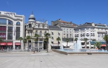 La place Clemendeau à Pau