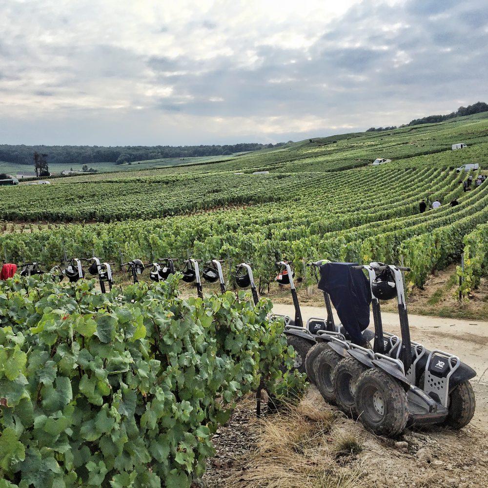 découverte vignobles de Reims à gyropode