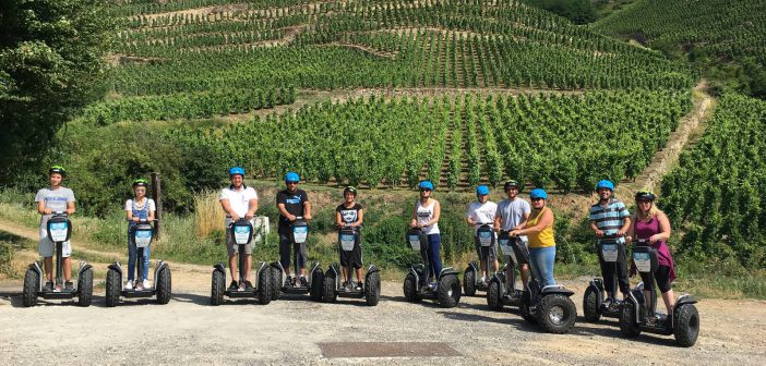 découverte à gyropode : vignobles vallée du Rhône
